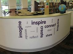 school library displays pictures | ... library.