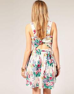 Floral Open Back Dresses  @ELLE Magazine (US) Fowler @Blair R Fowler