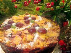 Gosia gotuje: Kruche ciasto ze śliwkami i budyniem