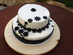 Poppy seed cream cheese frosted vanilla cake