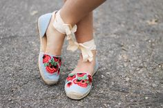 Klassically, Kenzie: EMBROIDERED ESPADRILLES