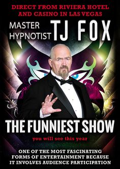 "Good morning everyone.Get ready for Mr. TJ Fox to amaze you!If Laughter is the best medicine then the TJ Fox show will cure you of all your ails. Direct from Las Vegas, renowned Hypnotist TJ Fox is coming to Curry's Restaurant on Saturday November 15th at 1:30 in the afternoon. The show will be filmed for a TV documentary and Internet media release. We are looking for 40 ""Brave Souls"" to come on out and partake in a beautiful lunch before the show, andenjoy a remarkable performance yo..."