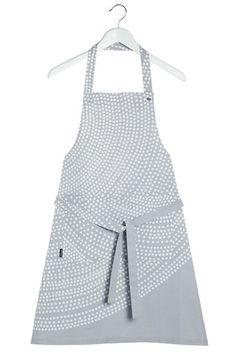 Marimekko Fokus Apron Grey   Kiitos Marimekko Marimekko, Crazy Shoes, Shades Of Grey, Kitchen Accessories, Apron, My Style, How To Wear, Sew, Gift Ideas