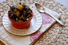 Quinoa Black Bean Mango Salad