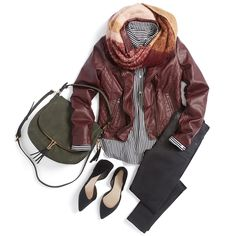 Go fall-in on autumnal colors! Richer than red, burgundy pairs back beautifully to olive, burnt orange & blush. #StylistTip