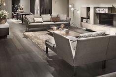 Sofá de esquina / moderno / de metal / de tela - JERMYN by Gordon Guillaumier - LEMA Home