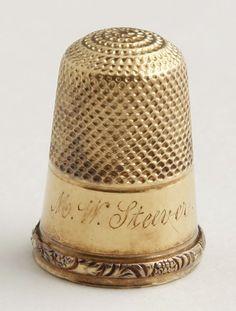 18K Yellow Gold Thimble, c. 1900