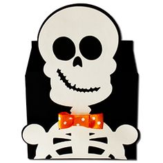 Skeleton Box-JMRush Finished Box Dimensions (approximate): W x H x D You can fill this cute skeleton box with you. Dulceros Halloween, Halloween Arts And Crafts, Halloween Treat Bags, Felt Crafts, Diy Crafts, Cute Skeleton, Manualidades Halloween, Halloween Coloring Pages, 3d Craft