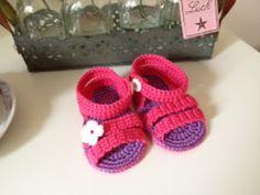 haak maar aan patroon baby sandalen
