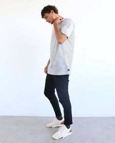 We've just dropped our White Stripe BC Homie online. It works a dream with the brand new B.Line Jean Crop in Ash Black.... give it a crack and thank us later. www.barneycools.com #fashion #clothing #design #chinos