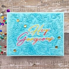 Sharp Designs End Of Spring, Hey Gorgeous, I Card, Card Stock, Concept, Colours, Florals, Handmade, Challenge