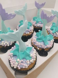 Mermaid Cupcakes, Treats, Party, Desserts, Food, Sweet Like Candy, Tailgate Desserts, Goodies, Deserts