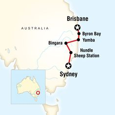 Map of the route for Great Ocean Road WestMelbourne to Adelaide