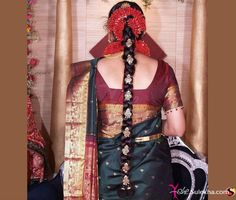 Indian Long Hair | Indian Bridal Hairstyle for Long Hair Photo & Picture -10475