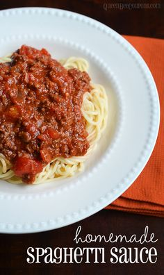 Homemade spaghetti sauce -- once you make your own you'll never buy jarred sauce again.