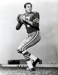Quarterback, Don Meredith, original member of the Dallas Cowboys.