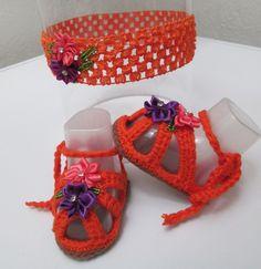 Scarpe e fascia per capelli neonata Calzature neonata.Fascia per capelli neonata