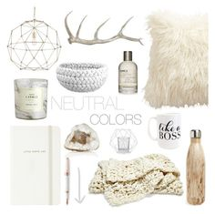 """Neutrals"" by southernpearldesigns ❤ liked on Polyvore featuring interior, interiors, interior design, home, home decor, interior decorating, S'well, Ethan Allen, Kate Spade and Moon and Lola"