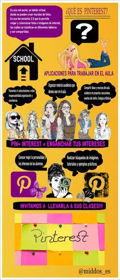 Usando #Pinterest en el trabajo de aula http://ticsyformacion.com/2014/08/04/pinterst-para-el-aula-infografia-infographic-socialmedia-education/