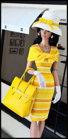"OOAK Fashions for 16"" Fashion Royalty / Tulabelle doll /16""Poppy Parker-W Zipper"