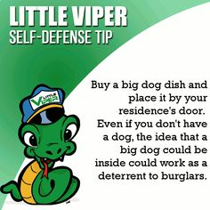 Little Viper self-defense tip. www.LittleViper.com   World's first and only fashion pepper spray self-defense bracelet.