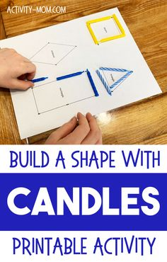 Build Candle Shapes with this free printable match activity for toddlers and preschoolers. Learning Games For Kids, Printable Activities For Kids, Toddler Learning Activities, Rainy Day Activities, Holiday Activities, Hands On Activities, Kindergarten Activities, Toddler Preschool, Educational Activities