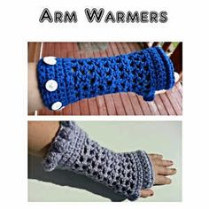 Buttons or Bobbles Arm Warmers from FreaksInYarn