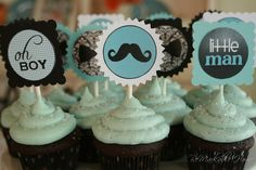 For a boy...you have to see all the cute party theme ideas on this page for a boy shower!