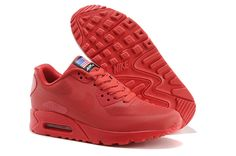 Discount New Nike Air Max 90 Hyperfuse PRM Female Trainer Running Shoes Red 1f03f2cc35