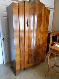 Amazing Burlwood Cabinet Armoire Huge Excellent Condition | eBay
