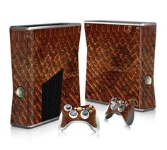 Snake Skin Pattern sticker skin for Xbox 360 slim - Decal Design