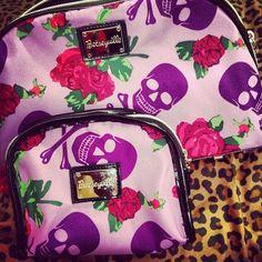 Betsey Johnson makeup bags...I have this set! LaCalavera
