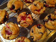 Gluten Free, Dairy Free Very Berry Muffins