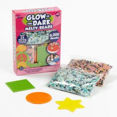 i already tried this one, and this is awesome! has a different texture than the regular beads. Bead Crafts, Diy And Crafts, Crafts For Kids, Craft Projects, Craft Ideas, Learning The Alphabet, Camping Theme, Glow Sticks, Different Textures