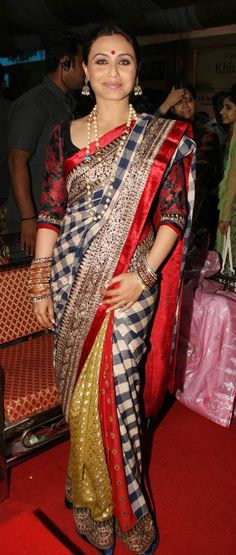 Finally a tartan print saree with class and style...Sabayachi once again. should have known.