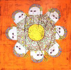 Gustavo Ortiz. Human Kaleidoscope. Mixed media. 80x80cm. £435. Olivia Connelly