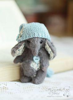 Купить Глория (9.5 см) - серый, слон, слоник, слоненок, слоник тедди, тедди