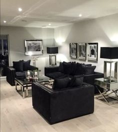 47 Popular Living Room Decor Ideas With Black Sofa 47 Popular Living Room Decor … 47 Popular Living Room Decor Ideas With Black Sofa 47 Popular Living Room Decor Ideas With Black Sofa––November an easy or dull-looking living space, you can get Black And Silver Living Room, Black Sofa Living Room Decor, Glam Living Room, Living Room Sets, Living Room Interior, Home Room Design, Living Room Designs, House Rooms, Decoration