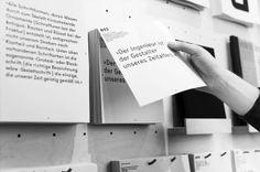 ON–TYPE: Texte zur Typografie — Ausstellungsgestaltung on Behance