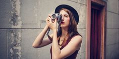 Buy Traveler Photograph Journey Tourist Girl Lady Concept by Rawpixel on PhotoDune. Holiday Images, Portrait Shots, Film Camera, Business Travel, Ladies Day, Feminism, Tourism, Journey, Stock Photos
