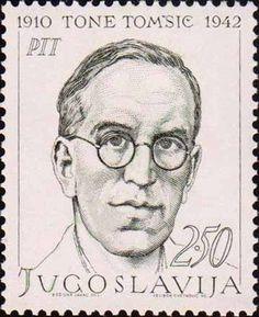 Yugoslavia Stamp 1968 - Tone Tomsic 1910-1942