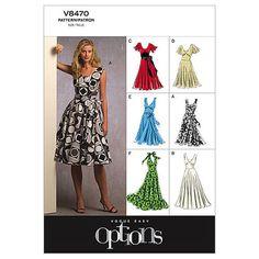 Misses' Dress-B5 (8-10-12-14-16) Pattern