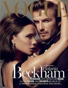 Victoria & David Beckham Vogue Cover Vogue Paris