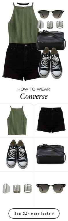 Sin título #12322 by vany-alvarado on Polyvore featuring Givenchy, Converse, Ray-Ban and Topshop