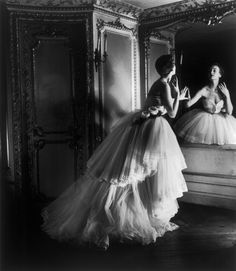 """""""Dior Ballgown"""" - Louise Dahl-Wolfe, New York, 1950"""