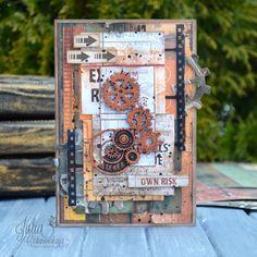 Блог Scrapberry's: Задание 38. Мужская открытка с фотопленкой
