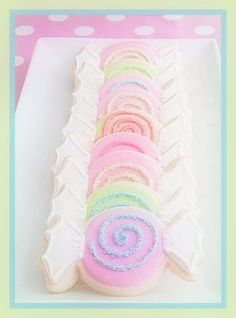 Pastel Cookies in candy shapes