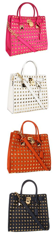 MICHAEL Michael Kors Hamilton Studded Large North/South Tote