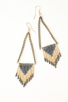 Chevron seed bead earrings - hooks, chains, bars, beads?