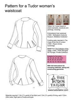 Women's Patterns - The Tudor Tailor